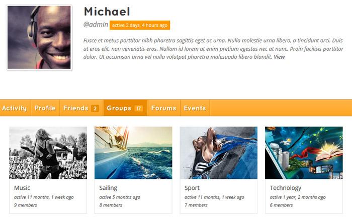 BuddyPress te permite crear perfiles públicos de cada usuario.