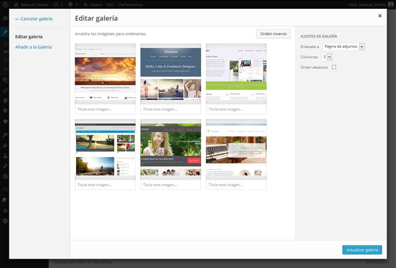 Cómo Crear Una Galería De Imágenes En WordPress - Manuel Vicedo