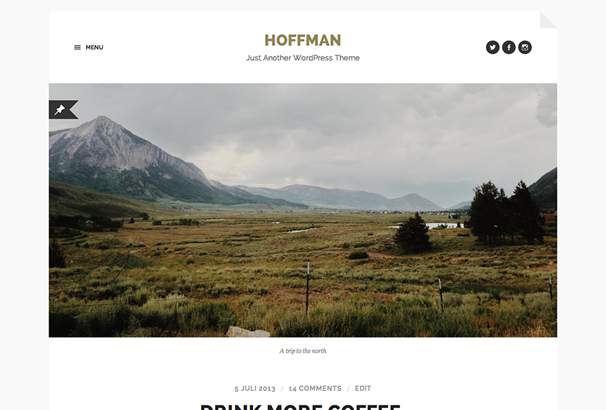 Hoffman Free WP Theme